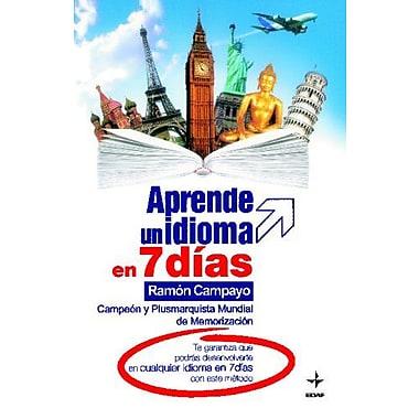 APRENDE UN IDIOMA EN 7 DIAS (Spanish Edition), New Book (9788441418103)