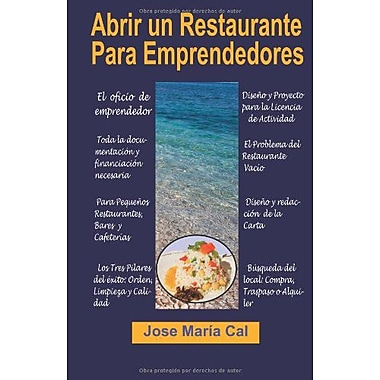 Abrir un Restaurante Para Emprendedores (Spanish Edition), New Book (9788493897048)