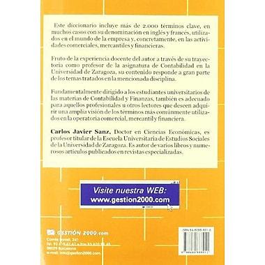Diccionario Economico, Contable, Comercial y Financiero (Spanish Edition), Used Book (9788480888011)