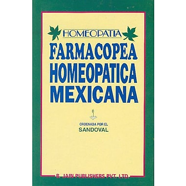 Farmacopea Homeopatica Mexicana (Spanish Edition), New Book (9788170217763)