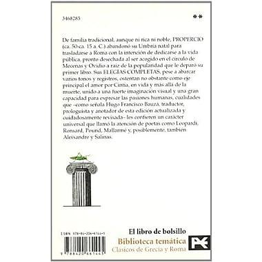 Elegias Completas/ Complete Elegy (Spanish Edition), Used Book (9788420661445)