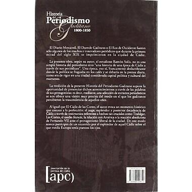 Historia del periodismo gaditano 1800-1850 (Spanish Edition), New Book (9788488599810)