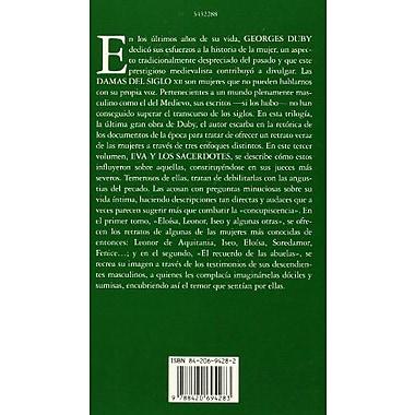 Damas del siglo XII. 3. Eva y los sacerdotes (LIBROS SINGULARES) (Spanish Edition), New Book (9788420694283)