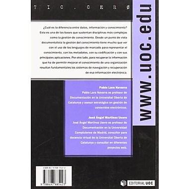 La organizacion del conocimiento en Internet/ The Knowledge Organization in the Internet(Tic.Cero)(Spa, New Book (9788497885423)