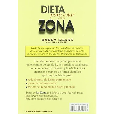 Dieta para estar en la zona (Spanish Edition) (9788479531485)