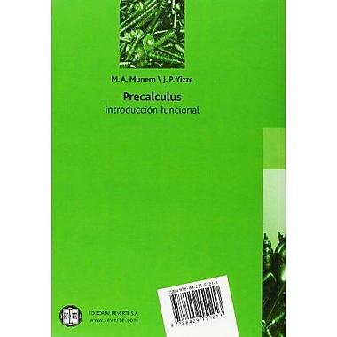 PrecAlculus. Introducción Funcional (Spanish Edition), Used Book (9788429151213)
