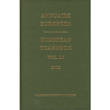 Annuaire Europeen / European Yearbook (Annuaire European/European Yearbook) (9789004144552)