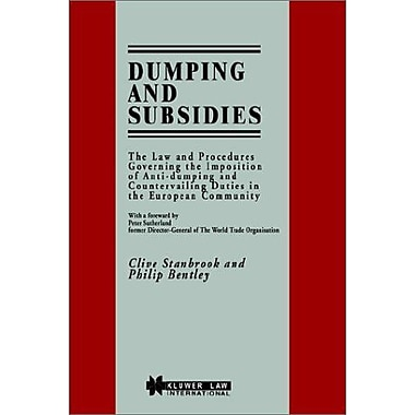 Dumping and Subsidies, Used Book (9789041109323)