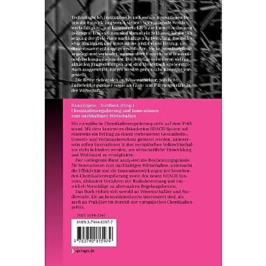 Chemikalienregulierung und Innovationen zum nachhaltigen Wirtschaften(Nachhaltigkeit und Innovation) ( (9783790815979)