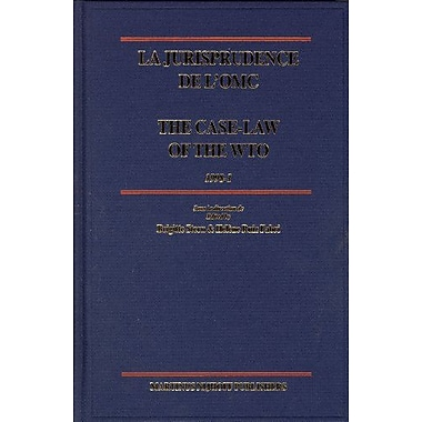 La Jurisprudence de l'OMC / the Case-Law of the WTO: 1998-1 (French Edition), Used Book (9789004144354)