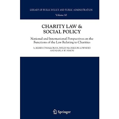 Charity Law & Social Policy: National and International Perspectives on the Functions of the Law (9789048178742)