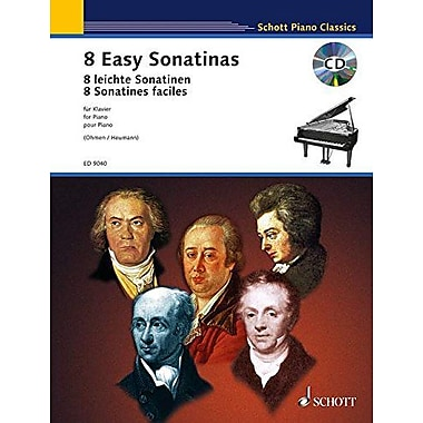 EIGHT 8 EASY SONATINAS PIANO BK/CD (Schott Piano Classics), Used Book (9790001139847)