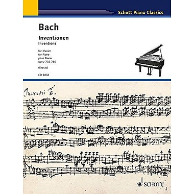 INVENTIONS FOR PIANO BWV 772-786 (Schott Piano Classics), Used Book (9783795752620)