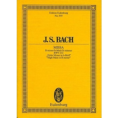 HIGH MASS IN B MINOR (MISSA) BWV232 STUDY SCORE, Used Book (9783795762018)