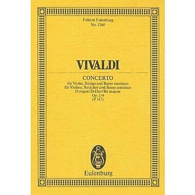 VIOLIN CONCERTO FOR VIOLIN STRINGS AND BASS OP3/9 D MAJOR (Edition Eulenburg) (9783795761820)