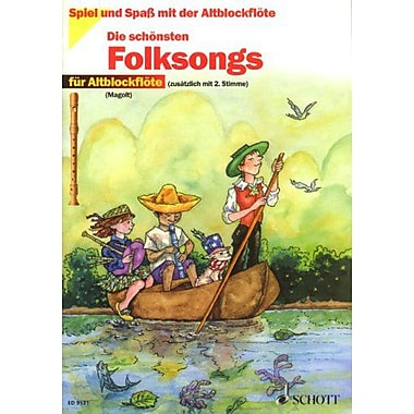 FOLK SONGS FOR TREBLE RECORDER (WITH ADDITIONAL 2ND PART) BOOK ONLY, Used Book (9783795756192)