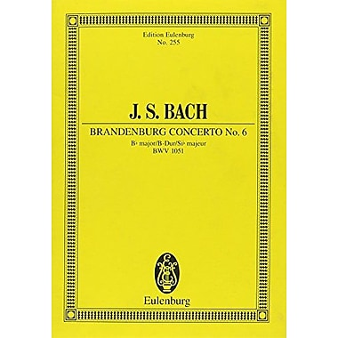 BRANDENBURG CONCERTO NO6 BWV 1051 B FLAT MAJOR STUDY SCORE (9783795763282)