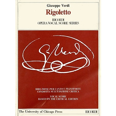 Rigoletto : Melodramma in tre atti (Ricordi Opera Vocal Score Series), New Book (9788875920135)