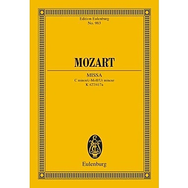 MASS IN C MINOR K427 (MISSA) STUDY SCORE (Edition Eulenburg), New Book (9783795762773)