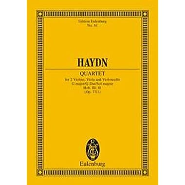 STRING QUARTET OP77 NO1 G MAJOR HOB III:81 STUDY SCORE KOMPLIMENTIER (9783795767549)