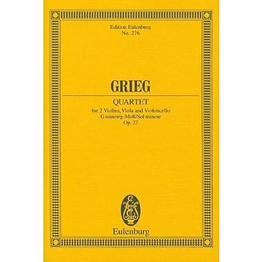 STRING QUARTET IN G MINOR OP27 SCORE STUDY SCORE (Edition Eulenburg), New Book (9783795762858)