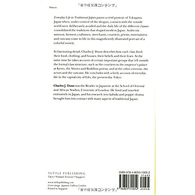 Everyday Life in Traditional Japan (Tuttle Classics), New Book (9784805310052)