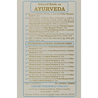 Studies in the Medicine of Ancient India, New Book (9788170221371)