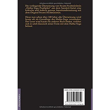 Hatha-Yoga Pradipika: Die Leuchte des Hatha Yoga (German Edition), Used Book (9783933321619)