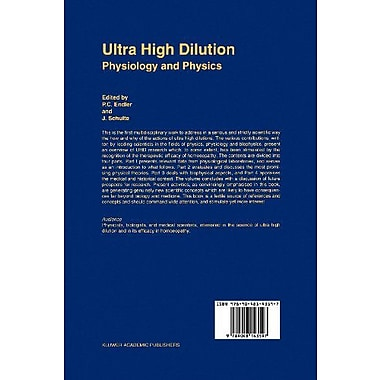 Ultra High Dilution: Physiology and Physics (9789048143597)