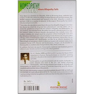 Homeopathy Cures Where Alopathy Fails, New Book (9788122307252)
