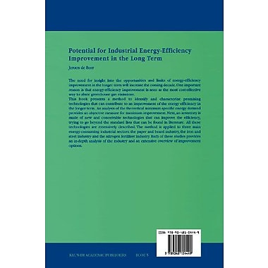 Potential for Industrial Energy-Efficiency Improvement in the Long Term(Eco-Efficiency in Industry an, Used Book (9789048154449)