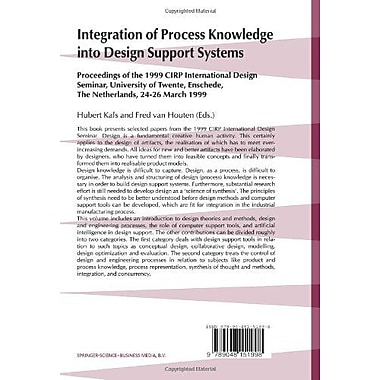 Integration of Process Knowledge into Design Support Systems: Proceedings of the 1999 CIRP Internatio (9789048151998)