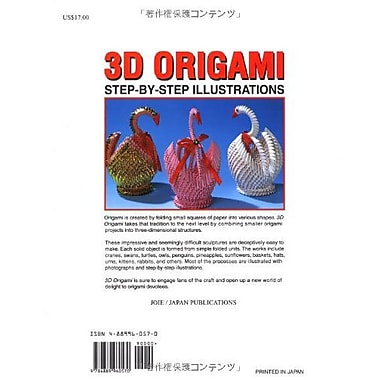 3D Origami: Step-by-Step Illustrations, Used Book (9784889960570)