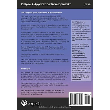 Eclipse 4 Application Development: The complete guide to Eclipse 4 RCP development (Volume 1), New Book (9783943747034)