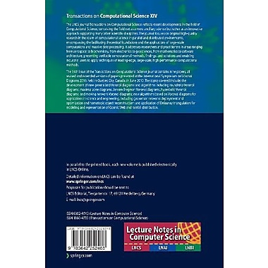 Transactions on Computational Science XIV: Special Issue on Voronoi Diagrams and Delaunay Triangulati (9783642252488)