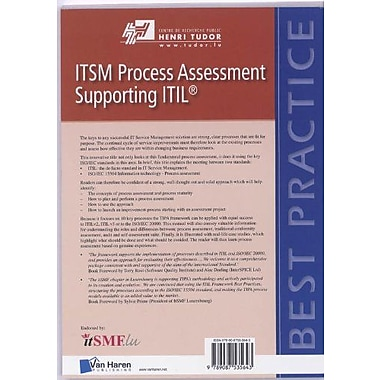 ITSM Process Assessment Supporting ITIL (TIPA) (Best Practice), New Book (9789087535643)