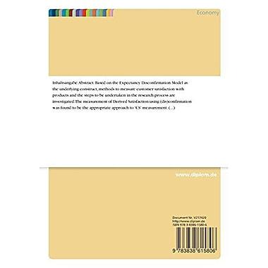 Customer Satisfaction Measurement on the Internet, New Book (9783838615806)