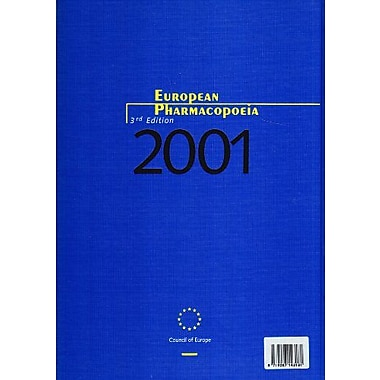 European Pharmacopoeia: 2001 Supplement, 3rd Edition, Used Book (9783540663287)