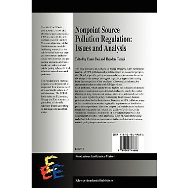 Nonpoint Source Pollution Regulation: Issues and Analysis (Economics, Energy and Environment) (9789048144686)