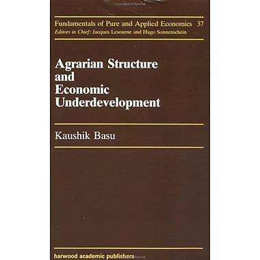 Agrarian Structure And Economi (Fundamentals of Pure & Applied Economics), Used Book (9783718649938)