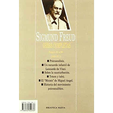 The Sigmund Freud 5 - Obras Completas (Spanish Edition) (9788470302336)