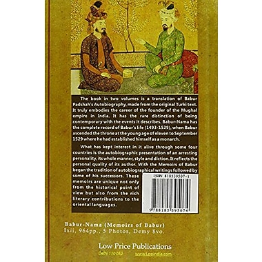 Babur-Nama: Memoirs of Babur, New Book (9788185395074)
