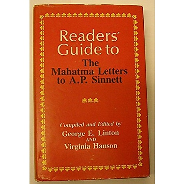 Readers' Guide to the Mahatma Letters to A. P. Sinnett, Used Book (9780835674812)