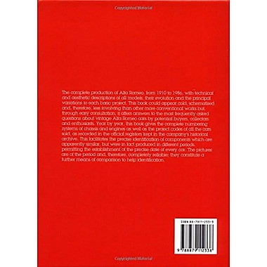 Guide to the Identification of Alfa Romeo Cars, New Book (9788879112338)