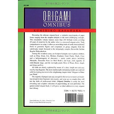 Origami Omnibus: Paper Folding for Everybody (9784817090010)