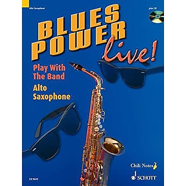 BLUES POWER LIVE] ALTO SAX PLAY WITH THE BAND BOOK AND CD, New Book (9783795757472)