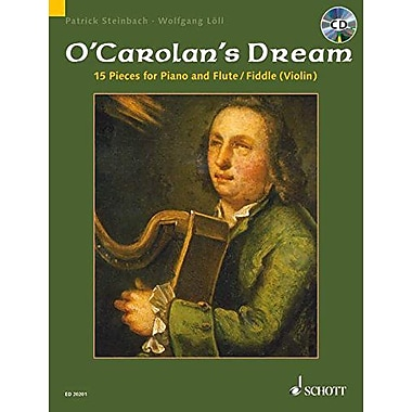 CAROLAN'S DREAM: 15 (FIFTEEN) PIECES FOR FLUTE/VIOLIN (FIDDLE) AND PIANO BOOK/CD, New Book (9783795758592)