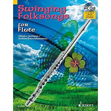 SWINGING FOLKSONGS PLAY-ALONG FOR FLUTE BK/CD WITH PIANO PARTS TO PRINT, New Book (9783795758356)