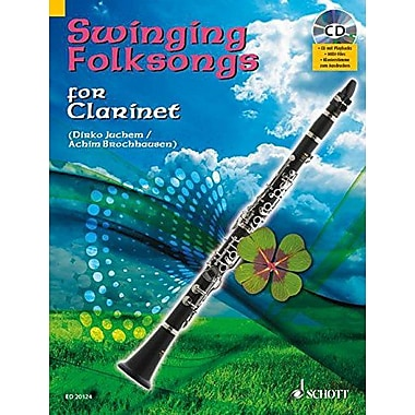 SWINGING FOLKSONGS PLAY-ALONG FOR CLARINET BK/CD WITH PIANO PARTS TO PRINT (9783795758349)
