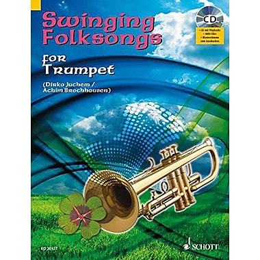 SWINGING FOLKSONGS PLAY-ALONG FOR TRUMPET BK/CD WITH PIANO PARTS TO PRINT, New Book (9783795758370)